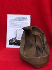 German 15cm Nebelwerfer rocket ballistic cap off fired rocket,maker mark,dated 1943,nice condition relic recovered from near Elsenborn Ridge in the Ardennes Forest,battle of the bulge 1944-1945