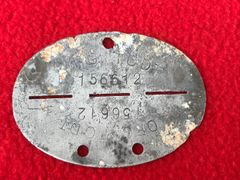 German soldiers complete dog tag for Organisation Todt,nice condition relic recovered near Caen from the battle fought during the D-Day landings in June 1944,Normandy