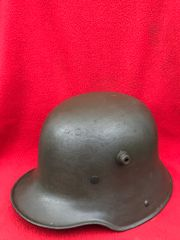 German soldiers complete M16 helmet with lovely condition leather liner,very nice condition not relic found on the 1916-1918 Somme battlefield