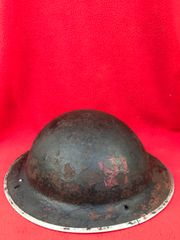 British fire mans mark 2 brodie helmet with original paintwork,dated 1941,very nice condition which hung the wall as a souvenir by by its war time owner