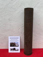 German steel made flak 88 shell case used by the Panzer Lehr division for the famous 8.8cm anti aircraft and anti tank gun recovered near Rochefort in the Ardennes forest,battle of the Bulge 1944