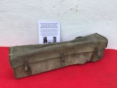 Very rare find German range site or optics cloth carry bag used by the Panzer Lehr division,very rare find recovered near Rochefort in the Ardennes forest,battle of the Bulge 1944
