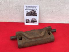 American track Link type 54-E1 Steel Chevron from Sherman tank recovered in the area of the Town of Coutances in Normandy 1944 battlefield