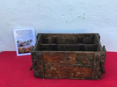 Rare find a British wooden ammunition crate for 7.92 besa machine guns on a Churchill tank,with markings found on a Farm in the village of Clecy near Falaise in Normandy