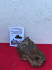 Russian IS-2 Josef Stalin tank blown off section of armoured wheel mount recovered from the Zeelow Heights near Berlin in Germany the 1945