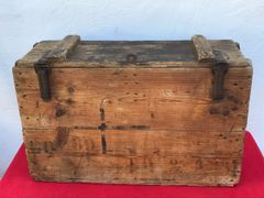 German stick grenade carry box for 25 grenades in nice condition dated March 1918 found on the Somme battlefield 1916-1918