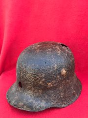 German soldiers M16 helmet nice solid relic,well cleaned recovered from Broodseinde Ridge the October 1917 battle in the Ypres salient in Belgium