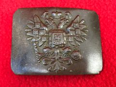 Russian officers square belt buckle very nice condition semi-relic recovered from Lutsk in the Ukraine from the Russian Brusilov offensive of summer 1916