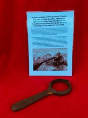German rifle grenade launcher attachment spanner used by German soldier of the 1st SS Panzer Division recovered near stavelot from the Ardennes Forest used during battle of Bulge