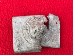 German Panzer Lehr Division soldiers aluminium belt buckle with markings,nice condition relic recovered from Hill 192 part of the battle of St Lo on the Normandy