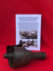 German panzerschreck anti-tank rocket launcher projectile war head recovered from South of Berlin in the area the 9th Army fought,surrendered in April 1945 during the battle of Berlin