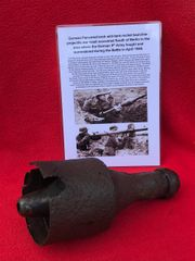German panzerschreck anti-tank rocket launcher complete projectile war head recovered from South of Berlin in the area the 9th Army fought,surrendered in April 1945 during the battle of Berlin
