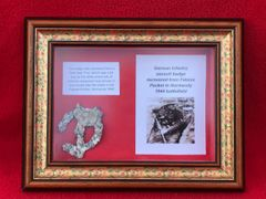 Glass framed German infantry assault badge,medal,relic,condition,nicely cleaned recovered from Falaise Pocket in Normandy 1944 battlefield