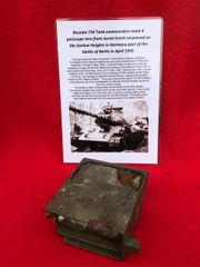 Russian T34 Tank commanders mark 4 periscope lens from the turret hatch recovered from the battlefield on the Seelow Heights in 1945 the opening battle for Berlin