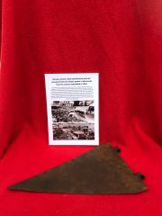 German vehicle metal identification pennant recovered from the Falaise Pocket in Normandy from summer battlefield of 1944
