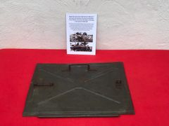 Radio front cover from inside German halftrack recovered from near Rochefort which was a village attacked by the Panzer Lehr division on the 23rd December 1944
