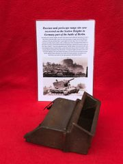 Periscope case from the turret of a Russian tank recovered from the battlefield on the Seelow Heights in 1945 the opening battle for Berlin