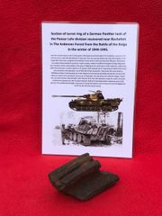 German Panther Tank Section of turret ring recovered from near Rochefort which was a village attacked by the Panzer Lehr division on the 23rd December 1944