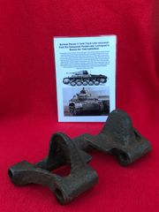 German Panzer 2 tank complete track link,nice used condition recovered from the Demyansk Pocket near Leningrad in Russia 1941-1942 battlefield