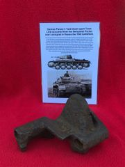 German Panzer 2 tank blown apart track link recovered from the Demyansk Pocket near Leningrad in Russia 1941-1942 battlefield