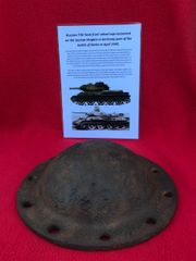 Russian T34 tank front wheel hub with 10 bolt holes recovered from the Seelow Heights the April 1945 battle the opening battle for Berlin