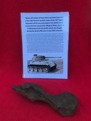 German Panther Tank of the 39th Panzer regiment Section of front drive sprocket with battle damage recovered from Plota,near Prokhorovka on the battlefield at Kursk in Russia