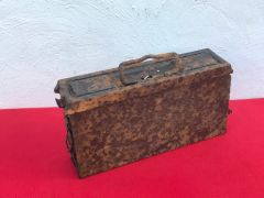 German MG 34/42 ammunition tin in relic condition recovered from Death Valley near Hill 112 the battle during operation Epsom on the Normandy battlefield of June 1944