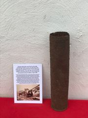 German steel shell case fired by Pak [36]R anti tank gun which was captured Russian 76.2mm Zis 3 used by the Wehrmacht recovered from South of Berlin in the area the 9th Army fought,surrendered in April 1945 during the battle of Berlin
