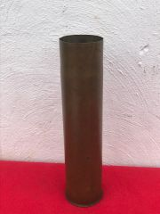 French 75mm brass shell case rare pre war stock dated 1902 found on the Somme battlefield of 1916-1918