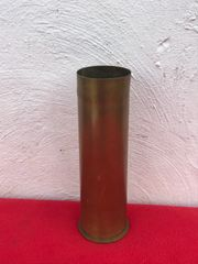 Belgium 75mm brass shell case dated 1917,very nice condition found on the Ypres battlefield 1914-1918 in Belgium