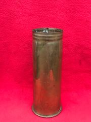 German 77mm shell case very nice condition brass finish dated December 1916 found on Somme battlefield 1916-1918