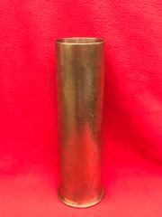 Belgium 75mm brass shell case trench art flower design dated 1916,very nice condition found on the Ypres battlefield 1914-1918 in Belgium