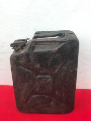 German Fuel can the famous Jerry can rare type maker marked and dated 1943 on the handle found many years ago around Bastogne from the battle of the Bulge 1944-1945