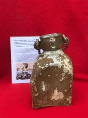 Afrikakorps 5 litre trinkwasser waterbottle remains,paintwork-markings used by German soldiers of the 1st SS Panzer Division recovered near stavelot from the Ardennes Forest used during battle of Bulge