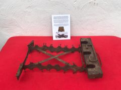 German stick grenade carry case internal rack,relic solid condition recovered from Death Valley near Hill 112 the battle in operation Epsom on the Normandy battlefield of 1944