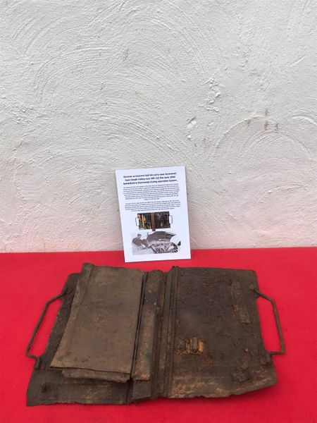 Very rare German armourers tool kit carry case,nice condition relic recovered from Death Valley near Hill 112 the battle in operation Epsom on the Normandy battlefield of 1944