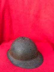 French Army soldiers M1926 Adrian helmet,relic condition some original paintwork recovered from around the town Bray Dunes which was in the centre of the Dunkirk Pocket of April and May 1940 during the battle of France