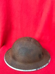British soldiers Mark 2 Brodie Helmet with mark 3 Chin strap 1941 pattern nice condition relic which was found on a Brocante in Enidhoven from Operation market garden or fighting in Holland in 1944