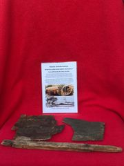Very Rare wooden airframe panel remains with green paint from British Horsa Glider landed on the 6th June 1944 during the D-Day landings in Normandy
