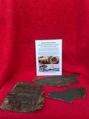 Very Rare flat wooden airframe panel remains with green paint from British Horsa Glider landed on the 6th June 1944 during the D-Day landings in Normandy