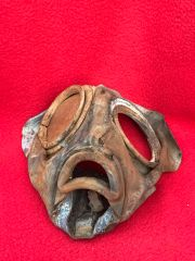 German soldiers gas mask,relic condition,original colours recovered from near Elsenborn Ridge in the Ardennes Forest from the battle of the bulge 1944-1945