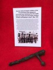 German Fallschirmjager soldier of the 1st parachute army K98 rifle bolt recovered near Hamburg from the battle that was fought and were large numbers of them surrendered in April - May 1945