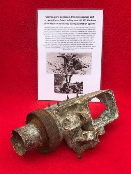 SOLD German army rabbit ear periscope lens