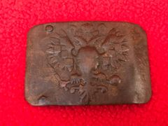 Russian soldiers belt buckle nice semi-relic condition,well cleaned recovered from Lutsk in the Ukraine from the Russian Brusilov offensive of summer 1916