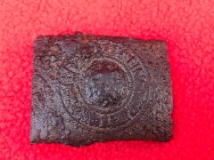 German Army soldiers steel belt buckle very nice condition relic recovered from the Bourguebus Ridge,Operation Goodwood 18-21 July 1944,Normandy