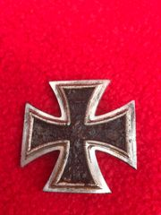 German iron cross 1st class,nice condition relic recovered from, field near the village of Trun a pit dug by the allies where lots of German equipment was buried after the battle in Falaise Pocket,Normandy 1944
