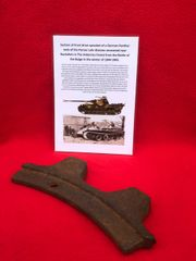 Section of front drive sprocket off a German Panther Tank recovered from near Rochefort which was a village attacked by the Panzer Lehr division on the 23rd December 1944 during the battle of the bulge