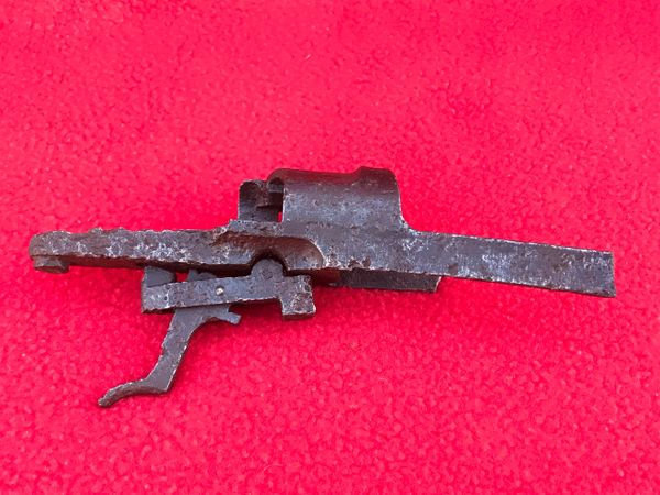German K98 rifle trigger section nice condition relic recovered many years ago from around Bastogne in the Ardennes Forest 1944-1945