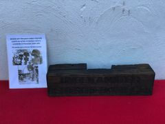 Original German wooden war time grave marker originally used in one of the 13 German military cemeteries in Poland for 1939-1945