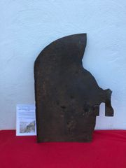 Russian dshk heavy machine gun front shield battle damaged with bullet hole recovered from the Seelow Heights 1945 battle of Berlin